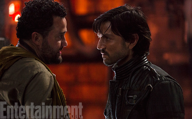 Rogue One: A Star Wars Story (2016) Tivik (L) and Diego Luna