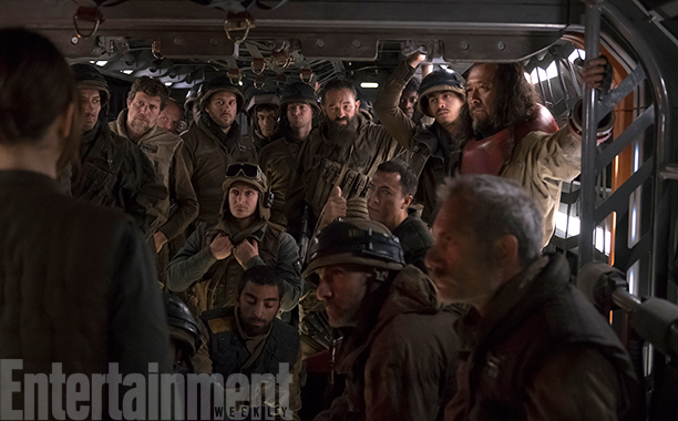 Rogue One: A Star Wars Story (2016) Donnie Yen and Wen Jiang with Rebel Marines