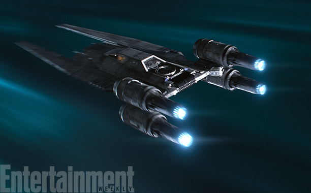 Rogue One: A Star Wars Story (2016) Rebel U-Wing fighter