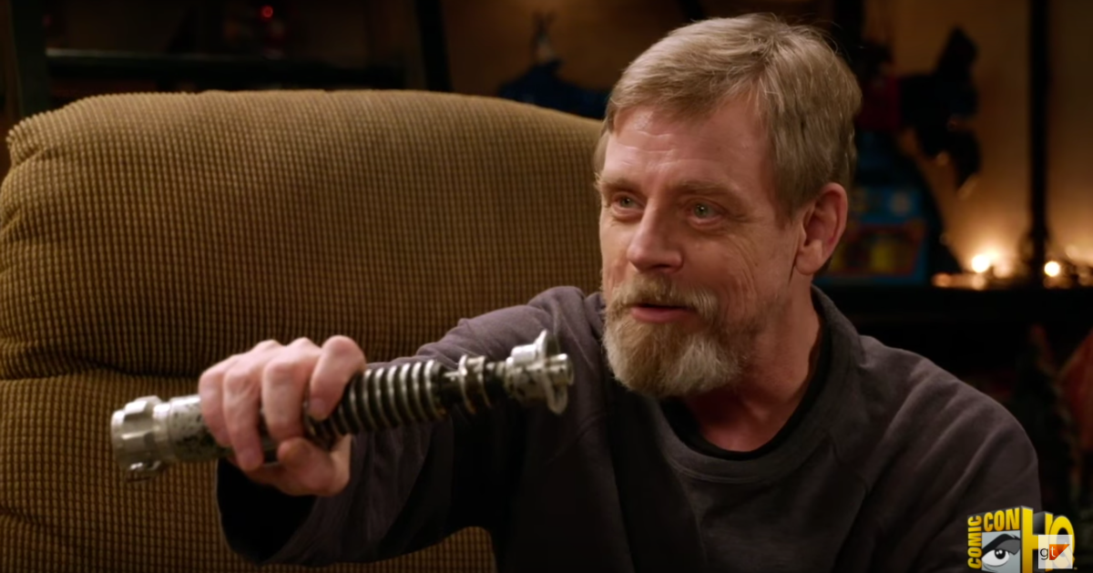Mark Hamill Reunites With His Lightsaber From 'Return of the Jedi'